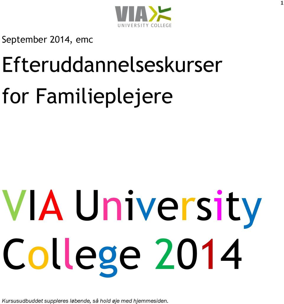 Familieplejere VIA University College