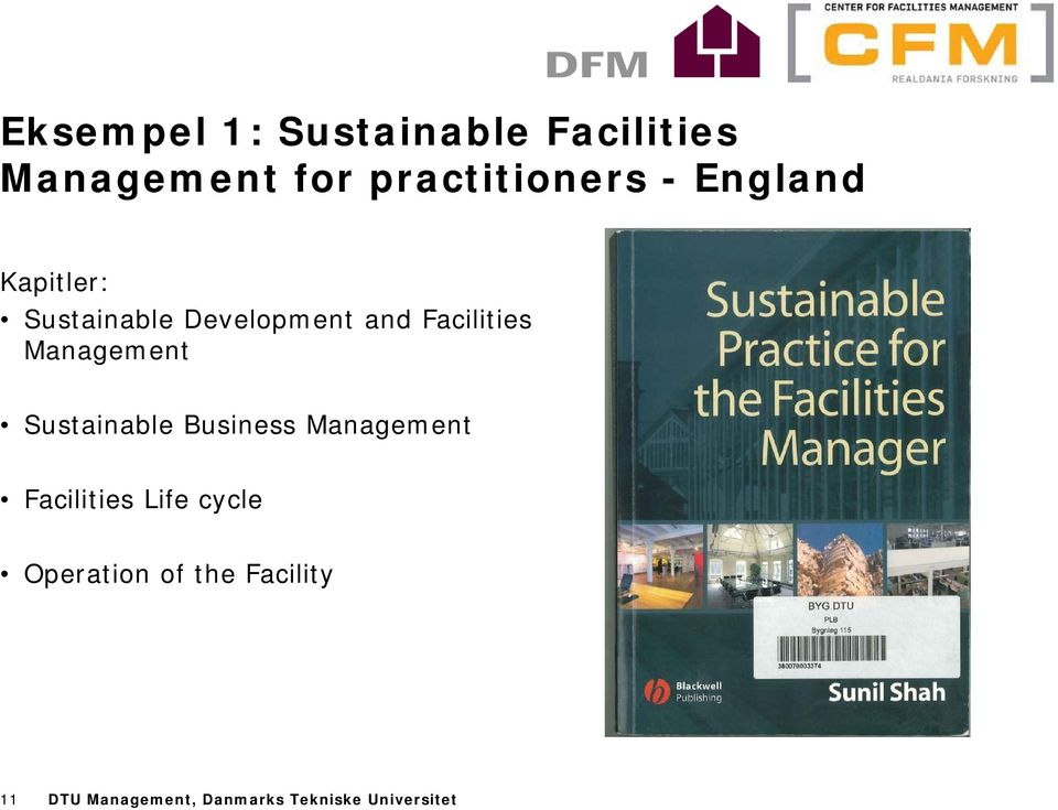 Management Sustainable Business Management Facilities Life cycle