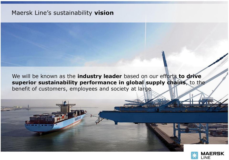superior sustainability performance in global supply