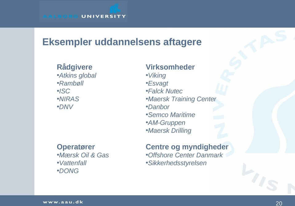 Falck Nutec Maersk Training Center Danbor Semco Maritime AM-Gruppen Maersk