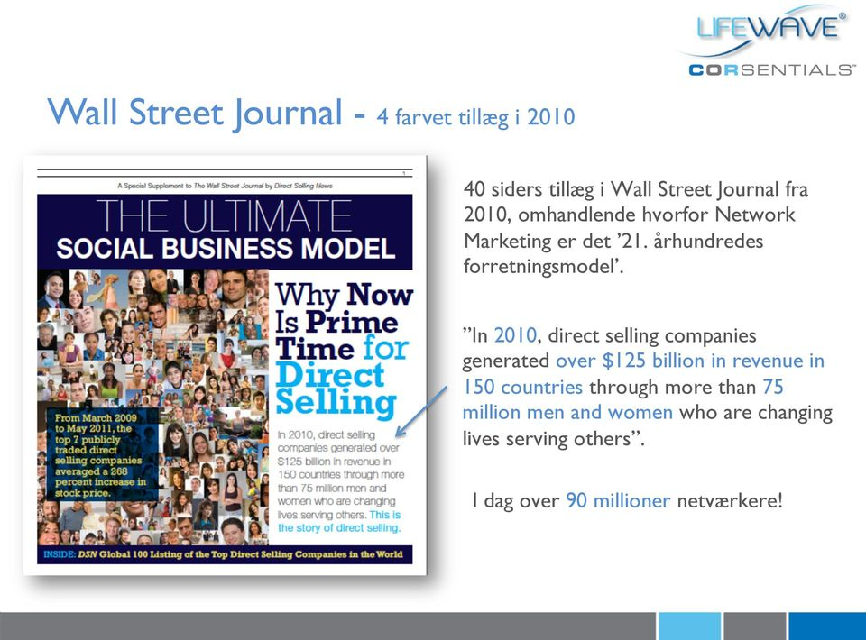 In 2010, direct selling companies generated over $125 billion in revenue in 150 countries