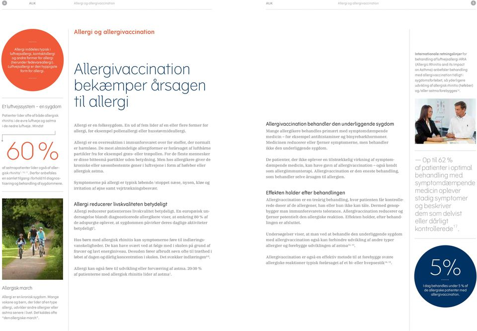 Et luftvejssystem en sygdom Allergivaccination bekæmper årsagen til allergi Internationale retningslinjer for behandling af luftvejsallergi ARIA (Allergic Rhinitis and its Impact on Asthma) anbefaler