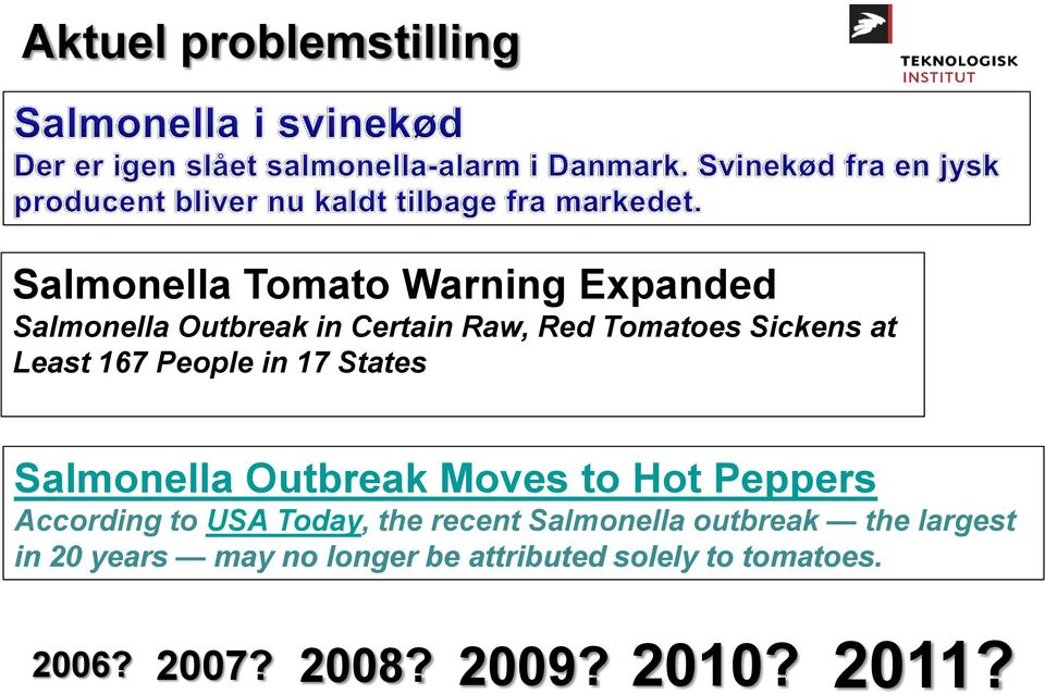 Moves to Hot Peppers According to USA Today, the recent Salmonella outbreak the largest