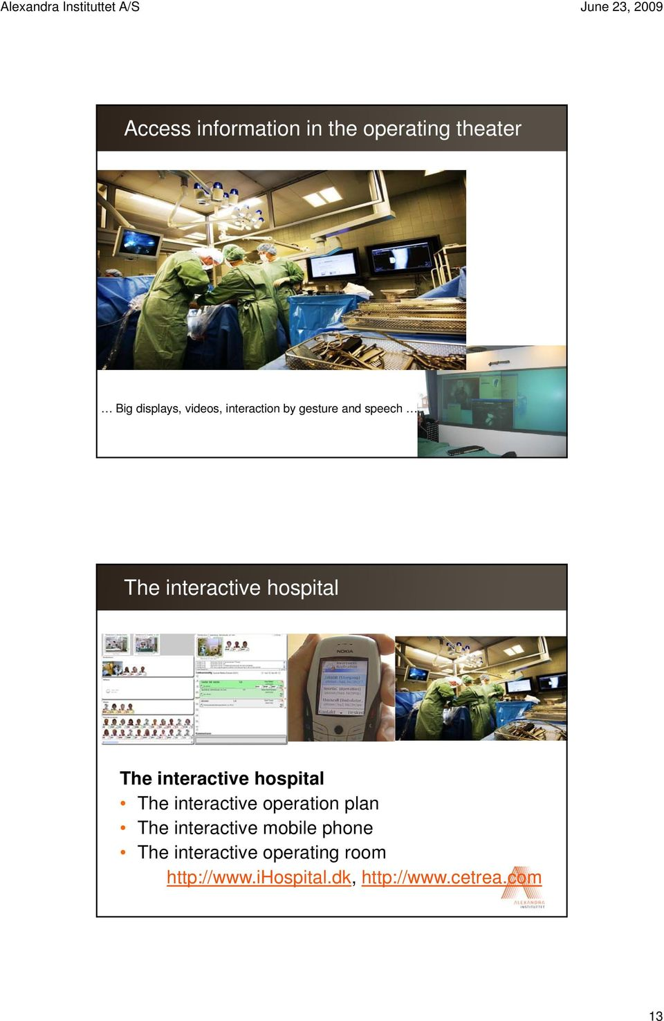 hospital title style The interactive hospital The interactive ti operation plan The