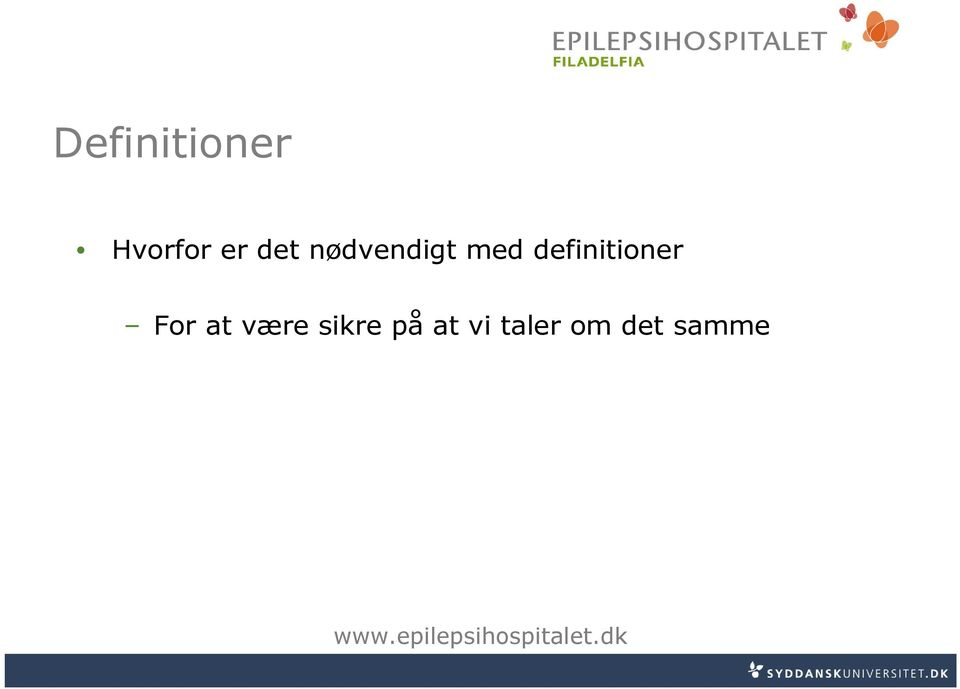 definitioner For at være