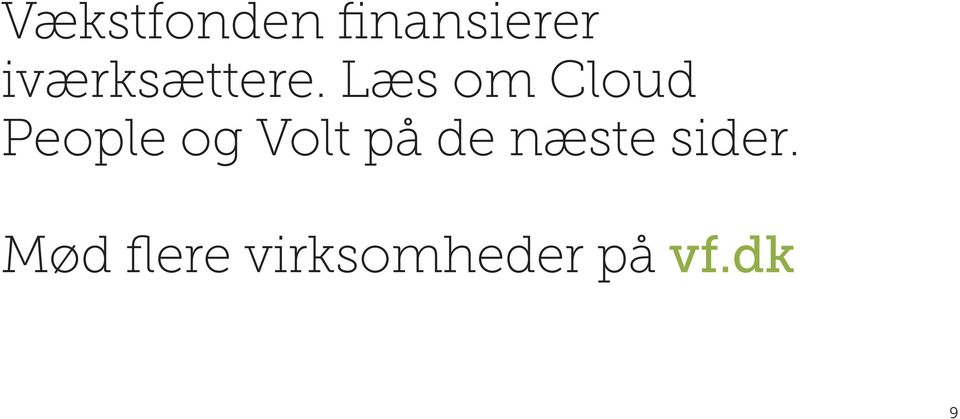 Læs om Cloud People og Volt