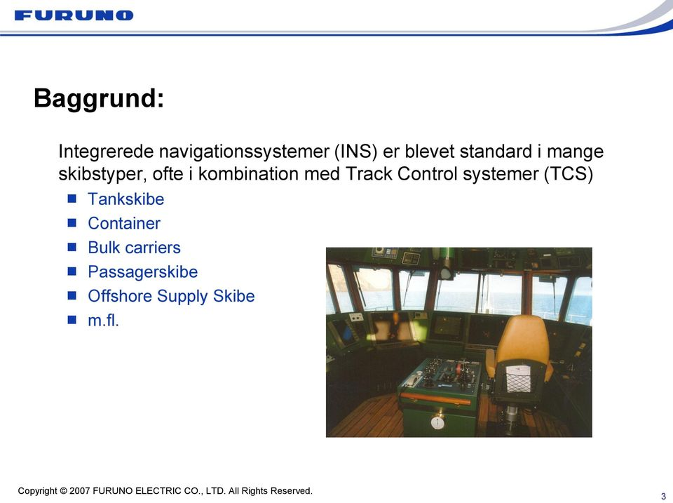 kombination med Track Control systemer (TCS)