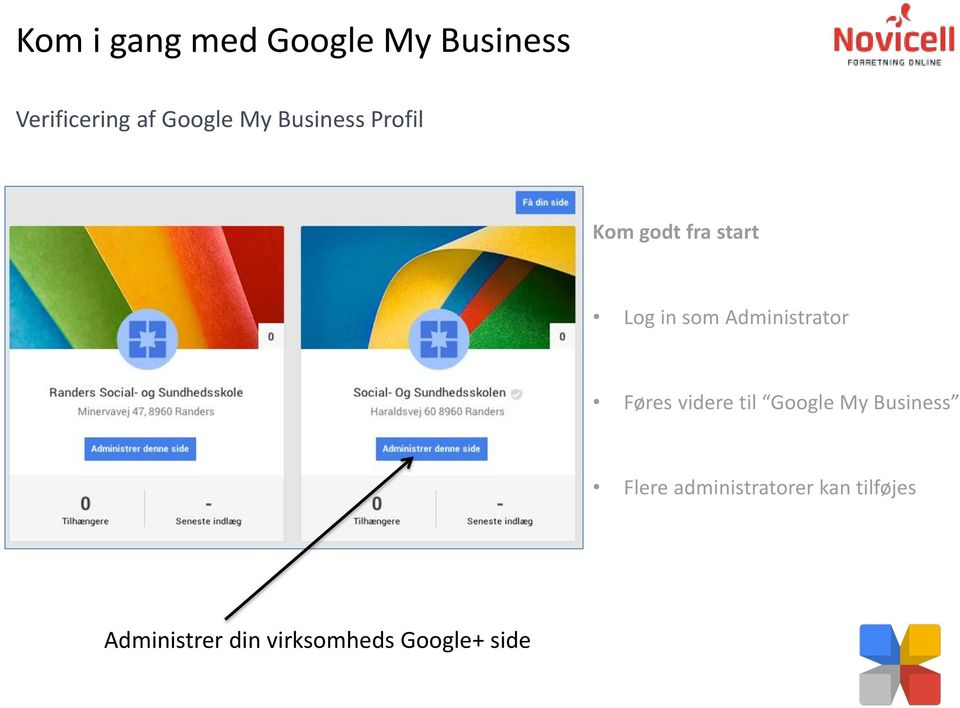videre til Google My Business Flere
