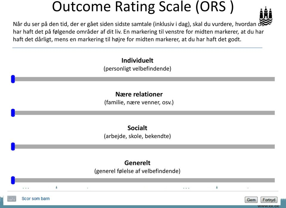 how to use the session rating scale