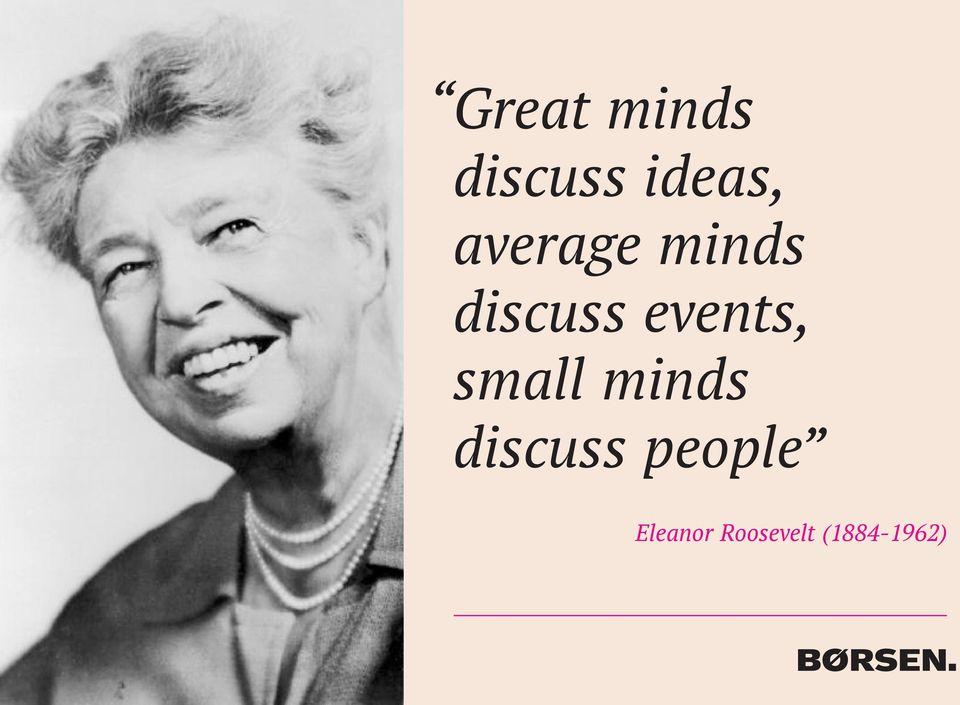 events, small minds discuss