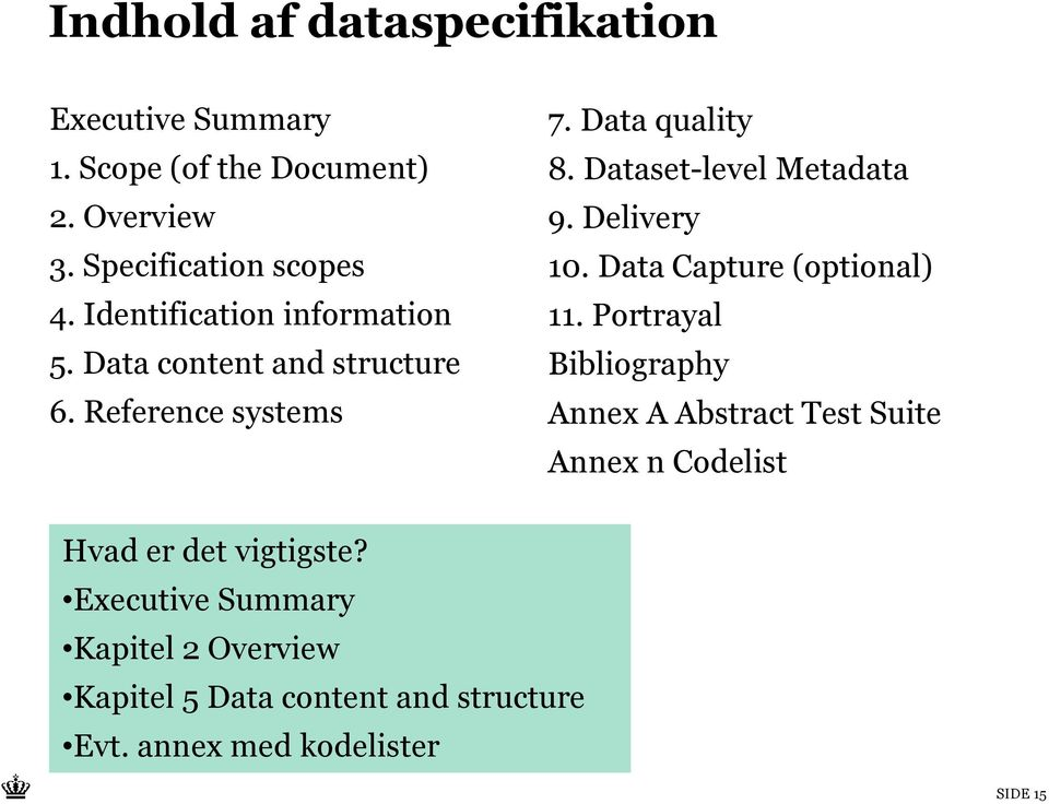 Dataset-level Metadata 9. Delivery 10. Data Capture (optional) 11.