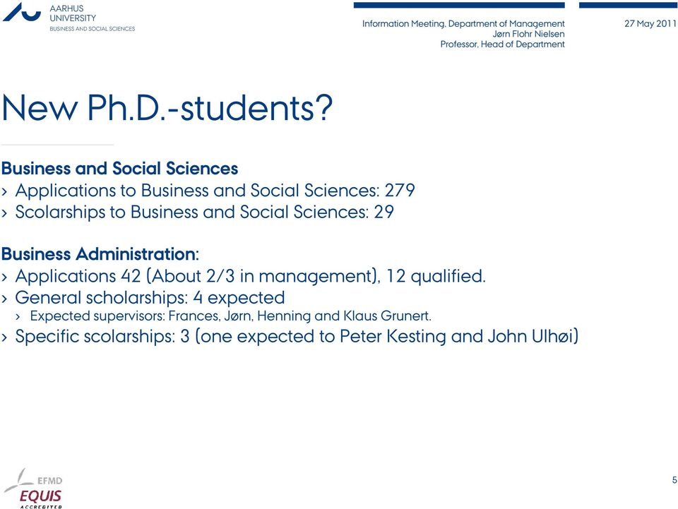 Business and Social Sciences: 29 Business Administration: Applications 42 (About 2/3 in
