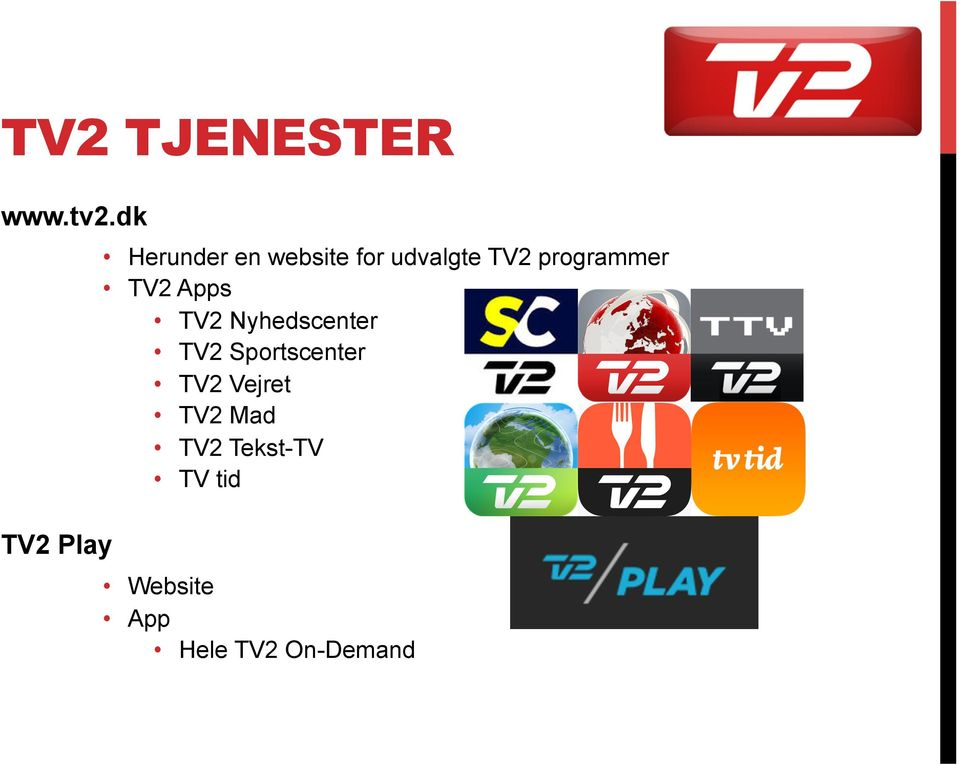 programmer TV2 Apps TV2 Nyhedscenter TV2