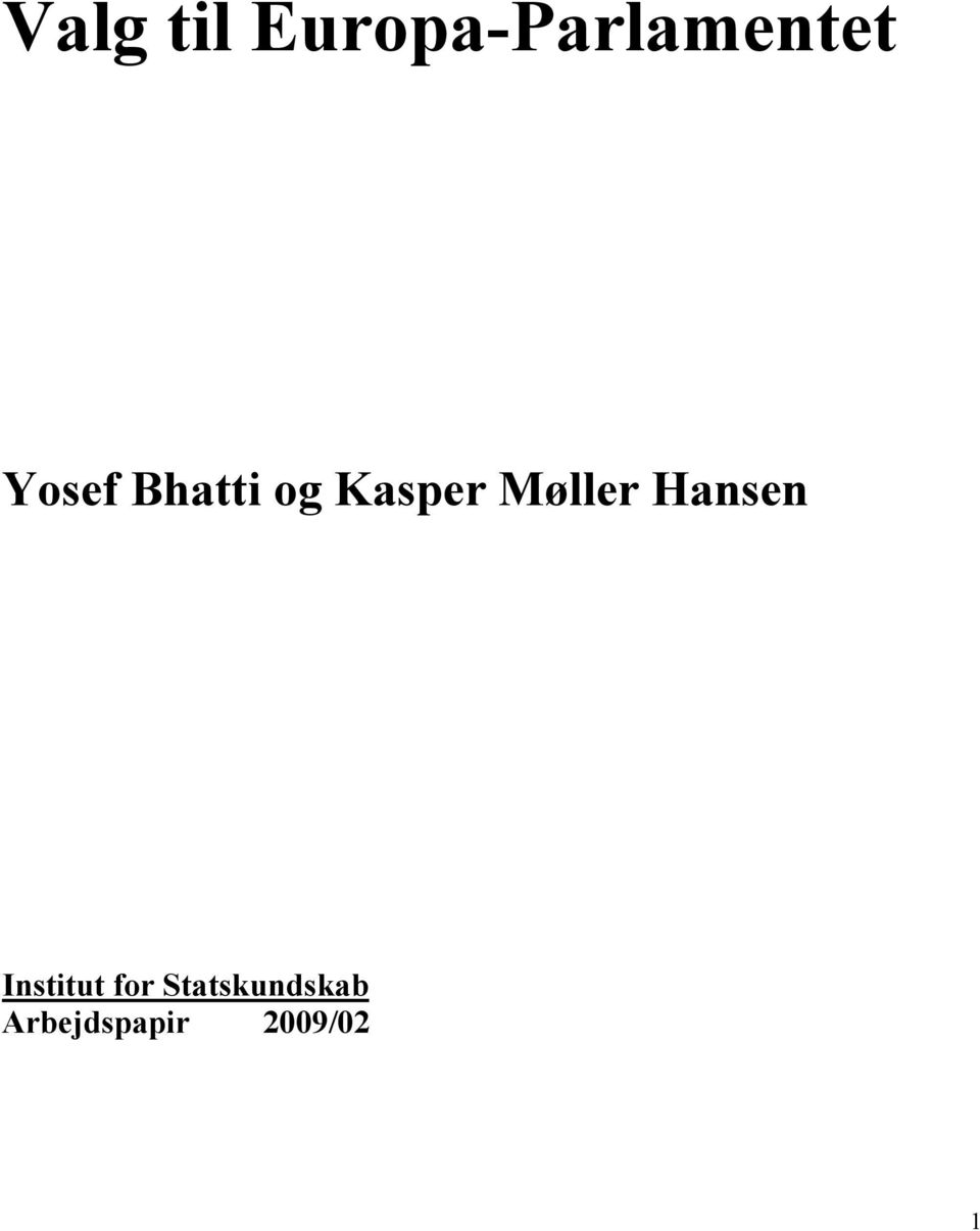 Møller Hansen Institut for