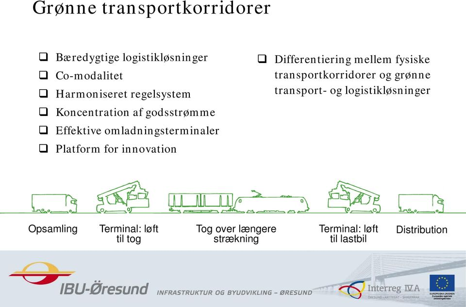 innovation Differentiering mellem fysiske transportkorridorer og grønne transport- og