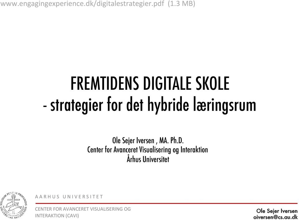 3 MB) FREMTIDENS DIGITALE SKOLE - strategier for