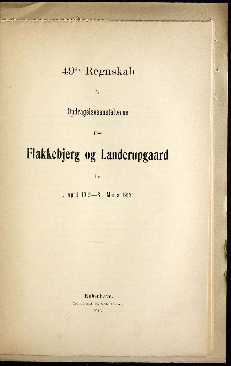 Landerupgaard for ]. April 1912 31.
