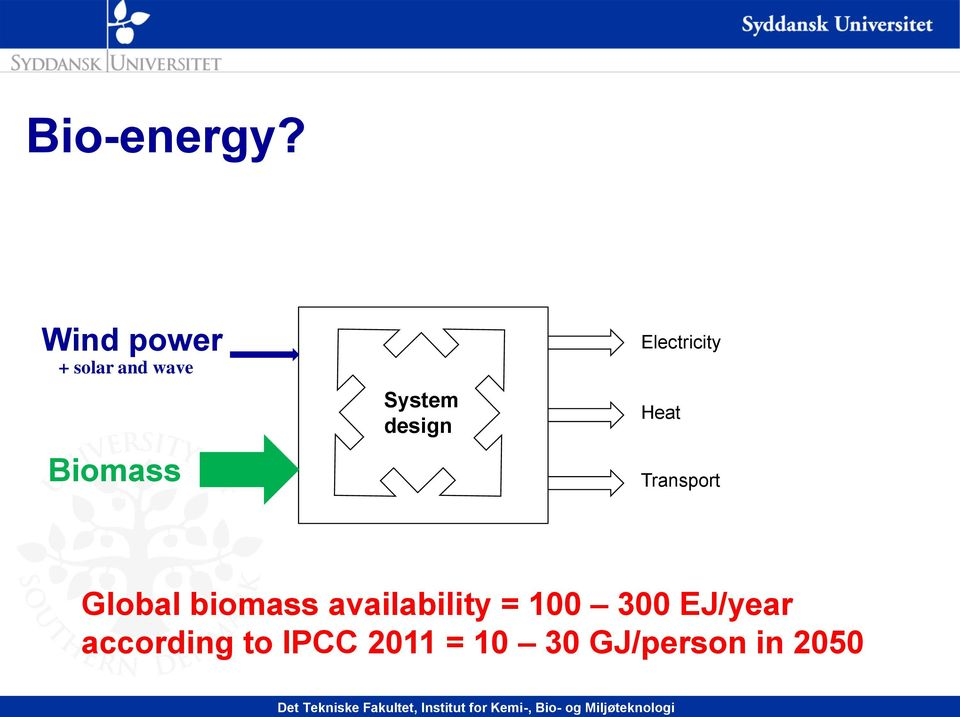 design Electricity Heat Transport Global