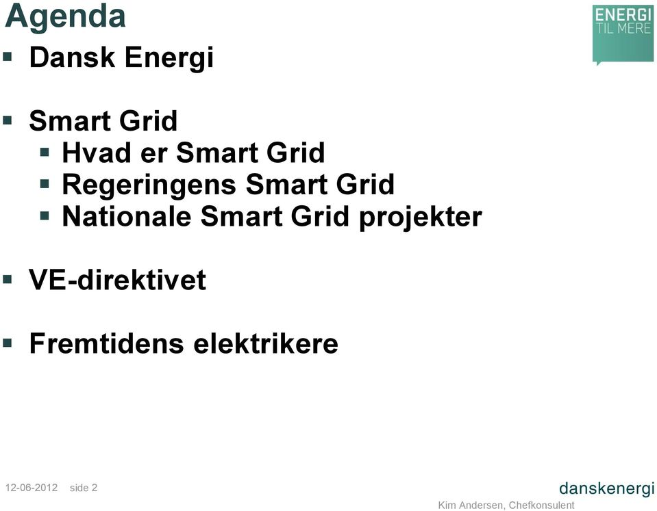 Nationale Smart Grid projekter
