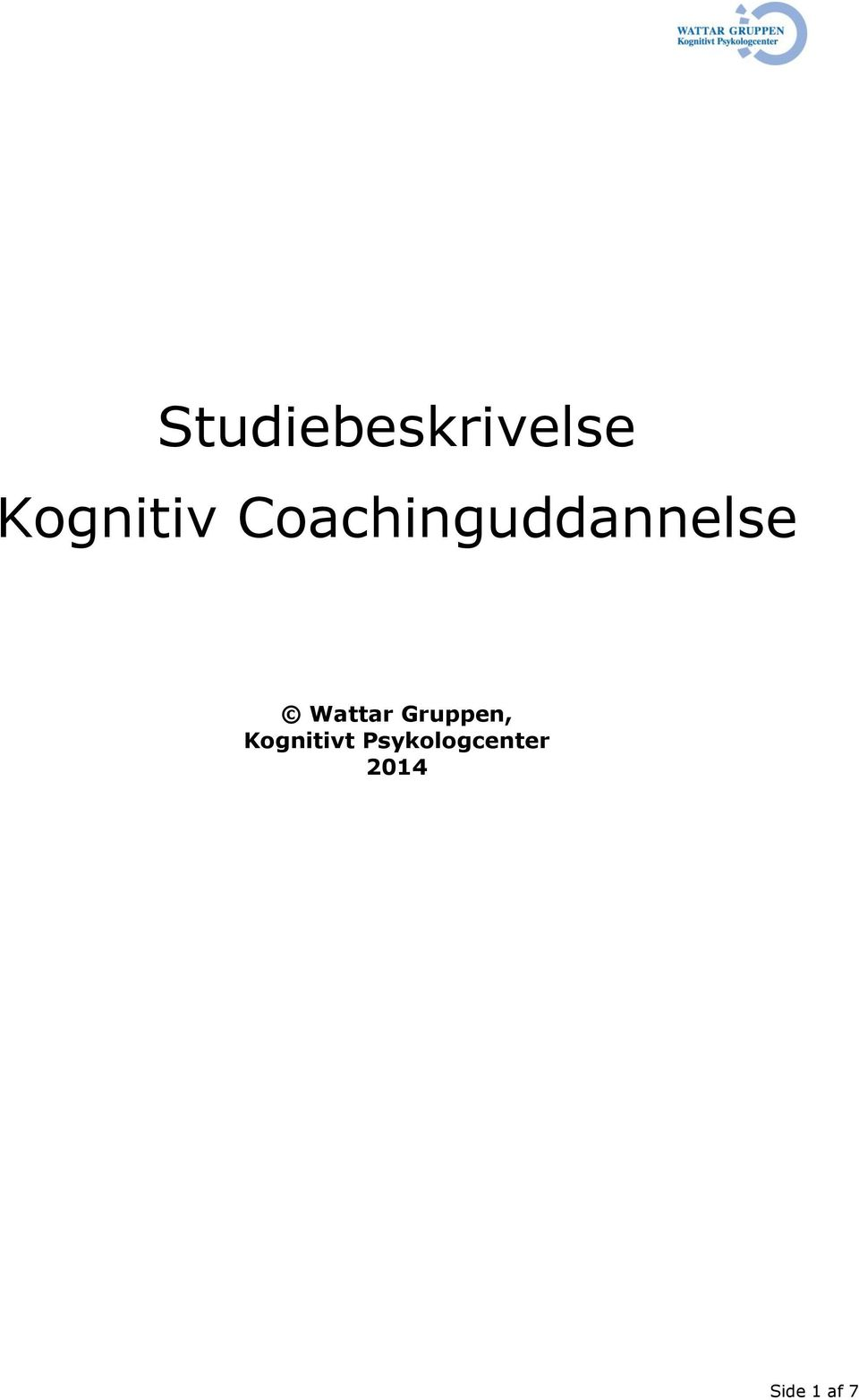Coachinguddannelse Wattar