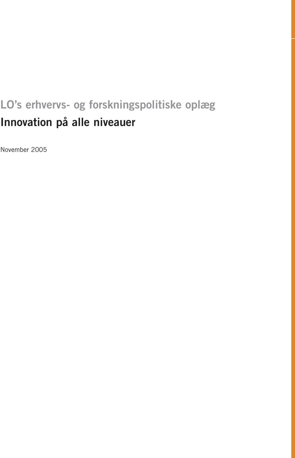 oplæg Innovation på