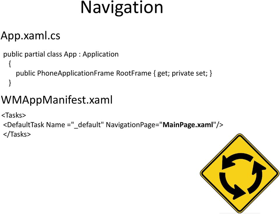 PhoneApplicationFrame RootFrame { get; private set; } }