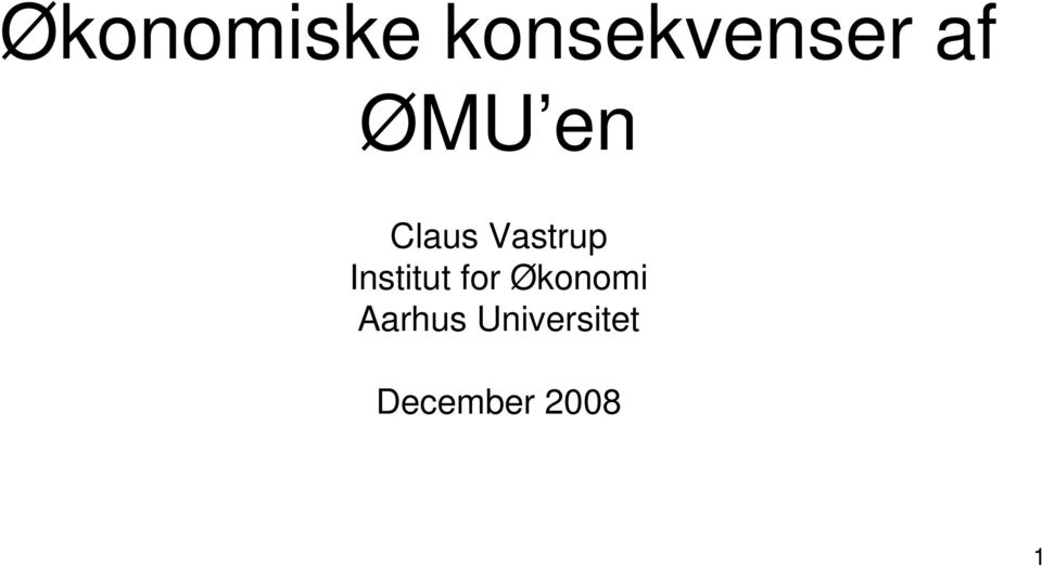 Institut for Økonomi