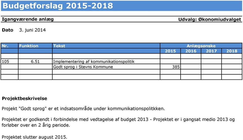 er et indsatsområde under kommunikationspolitkken.