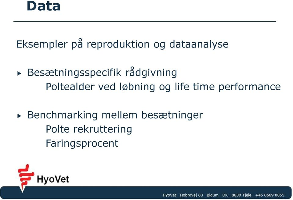løbning og life time performance Benchmarking