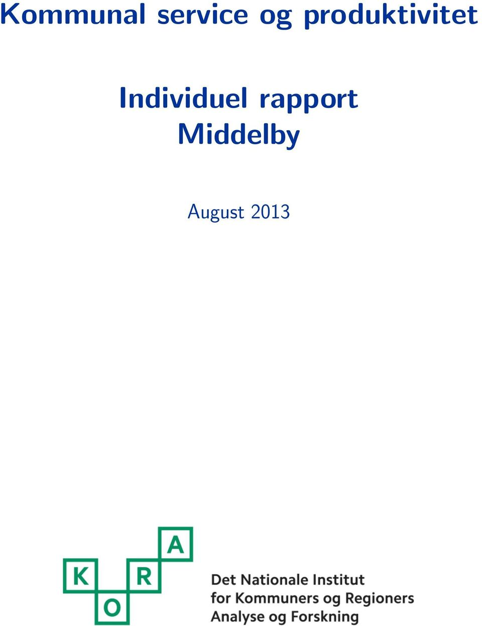 Individuel rapport