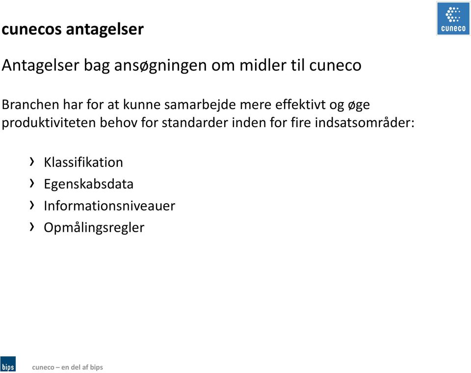 øge produktiviteten behov for standarder inden for fire