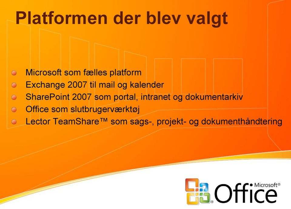 portal, intranet og dokumentarkiv Office som