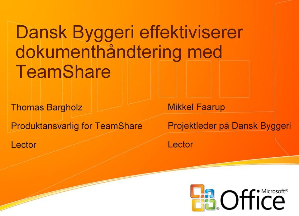 Bargholz Produktansvarlig for TeamShare