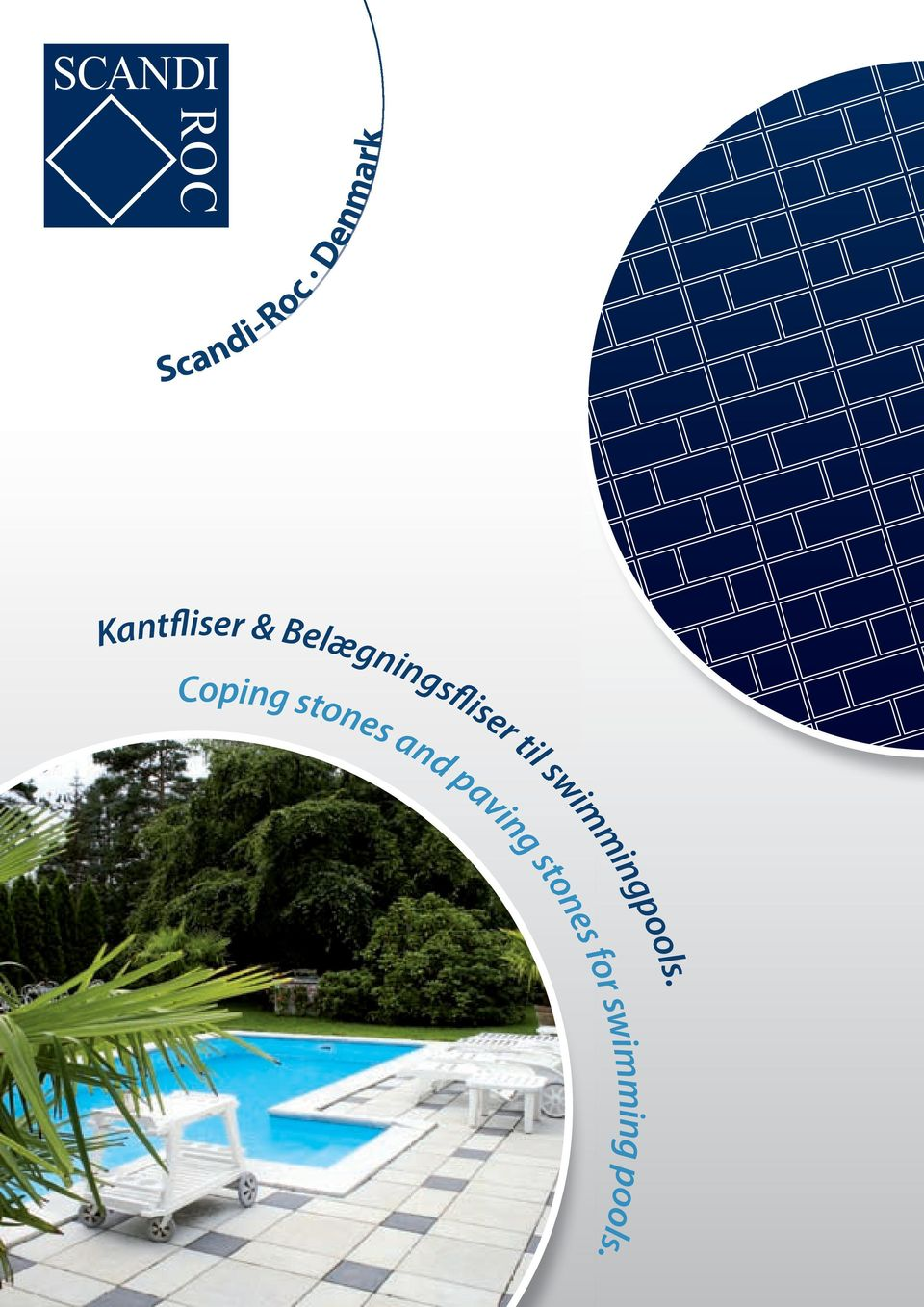 Coping stones and paving stones for swimming