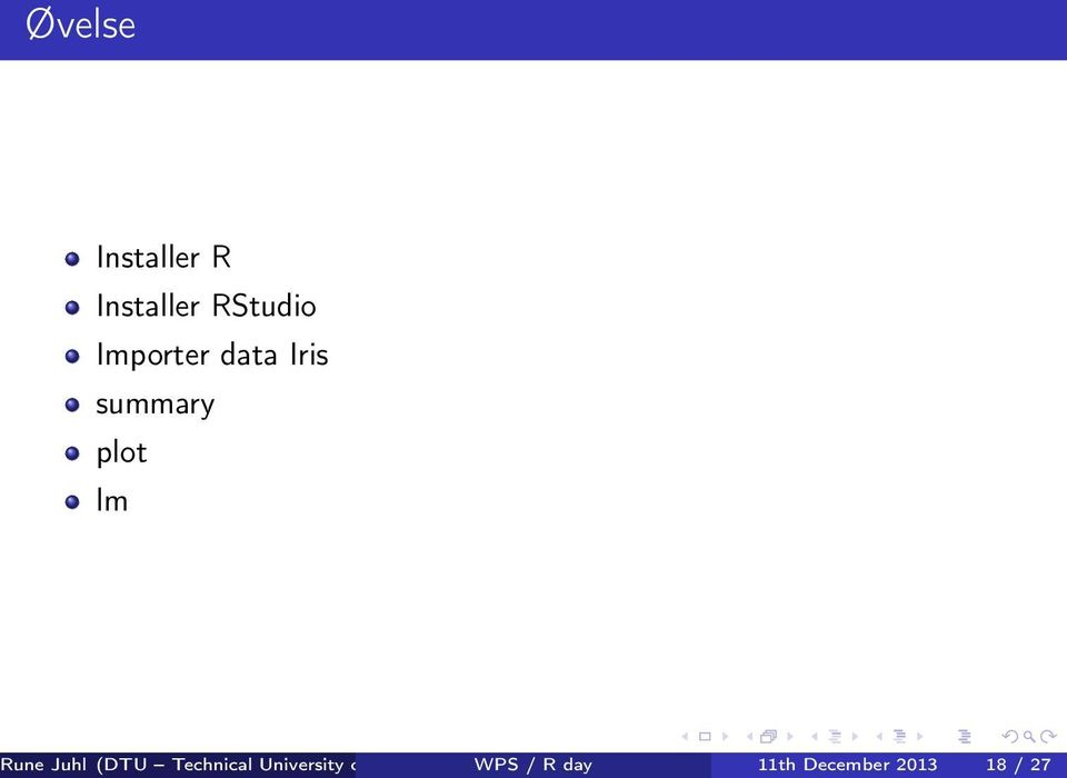 WPS Compute / R day Department of Applied