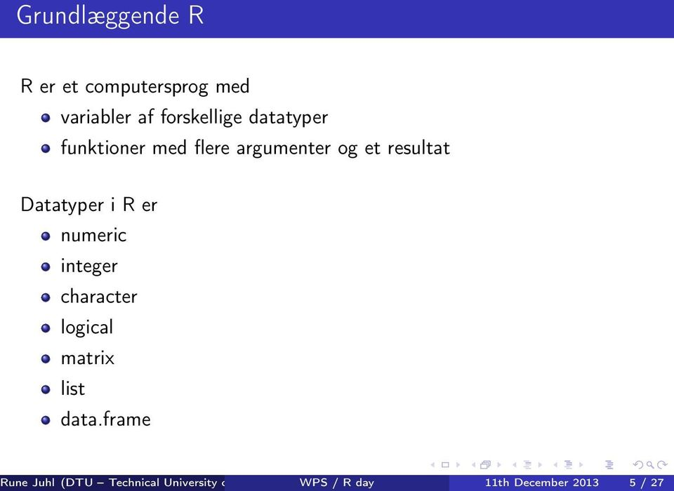 numeric integer character logical matrix list data.