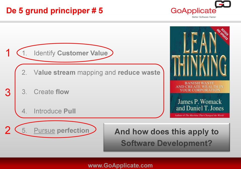 Value stream mapping and reduce waste 3 3.