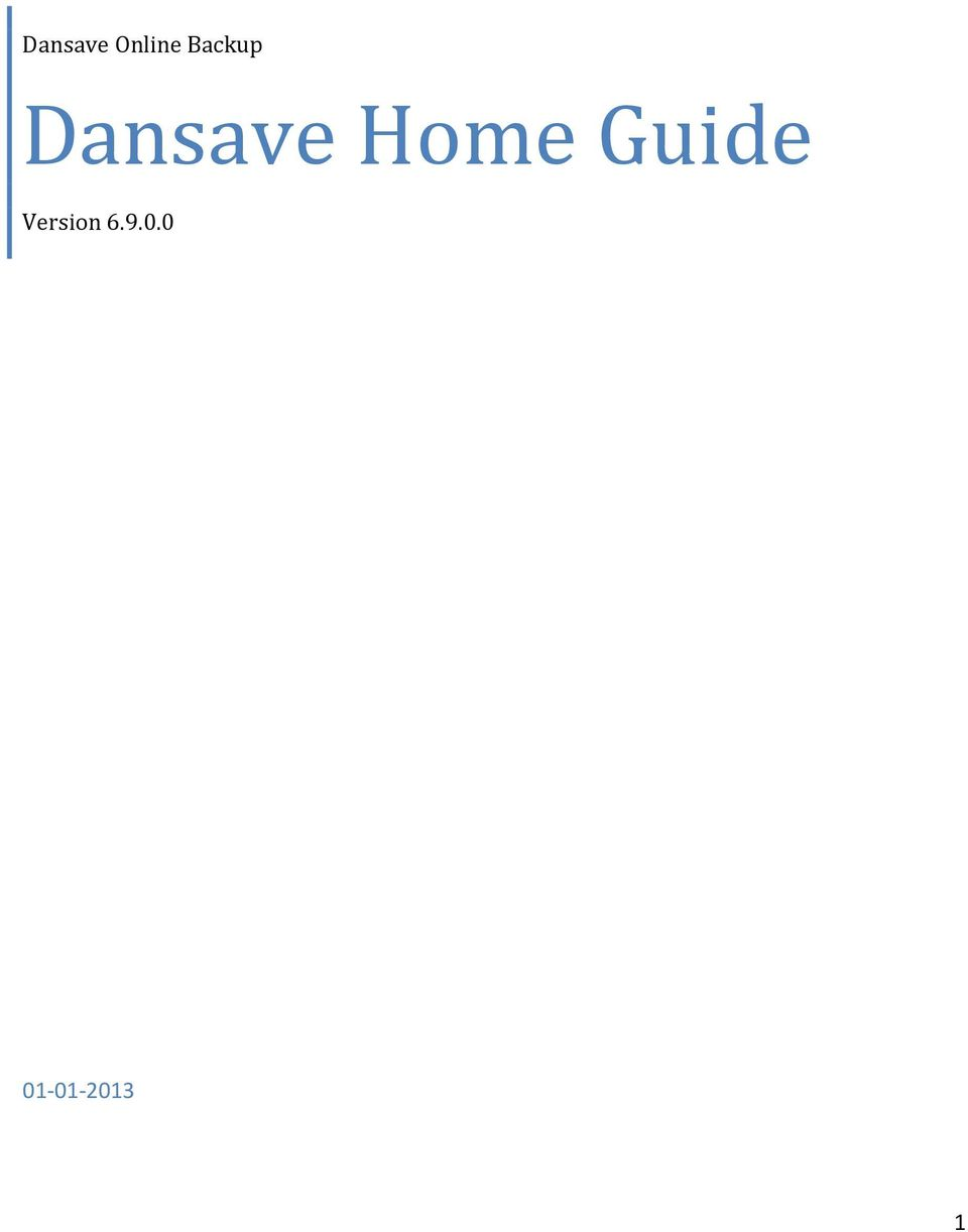 Home Guide