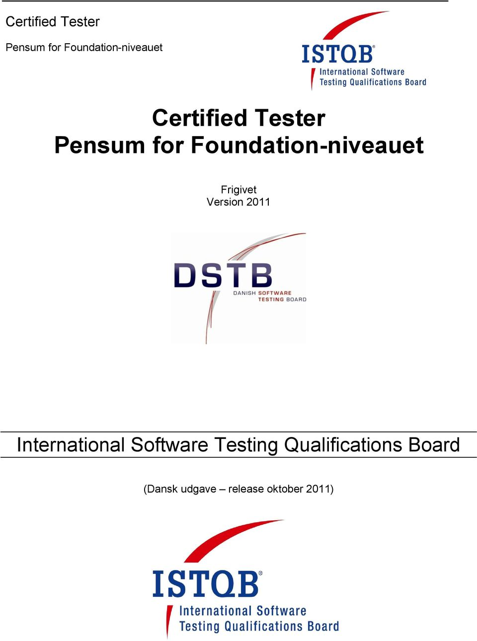 Software Testing Qualifications