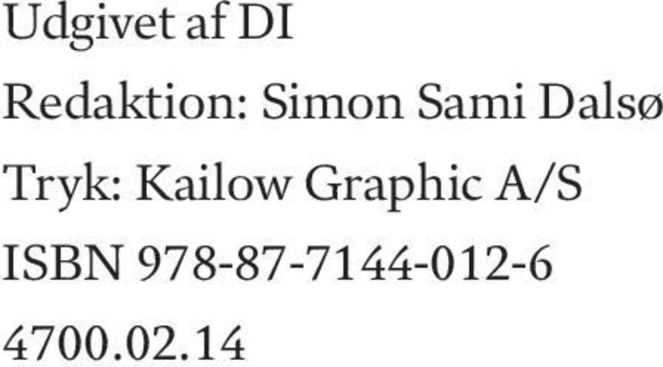 Kailow Graphic A/S ISBN