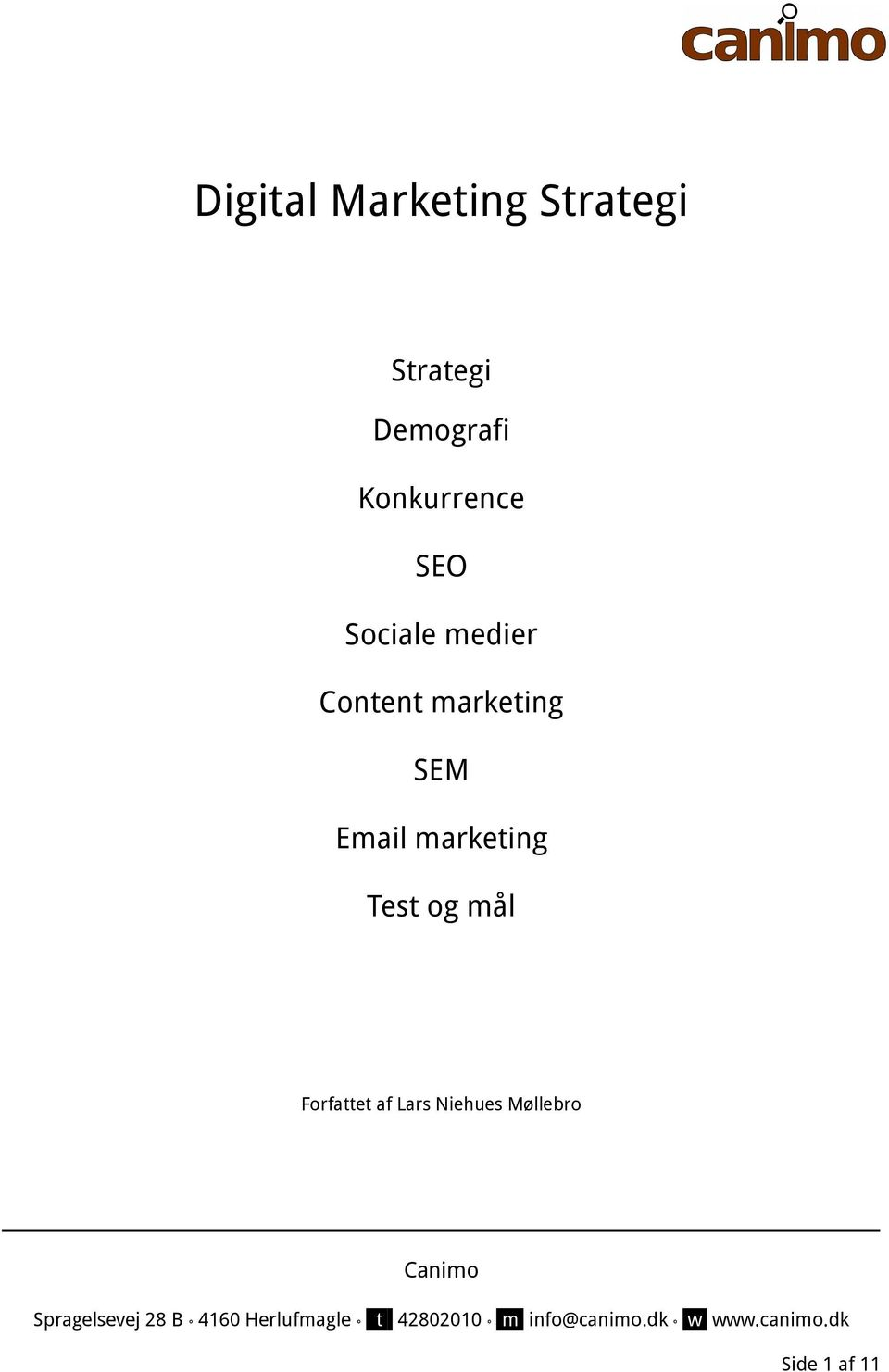 Content marketing SEM Email marketing Test