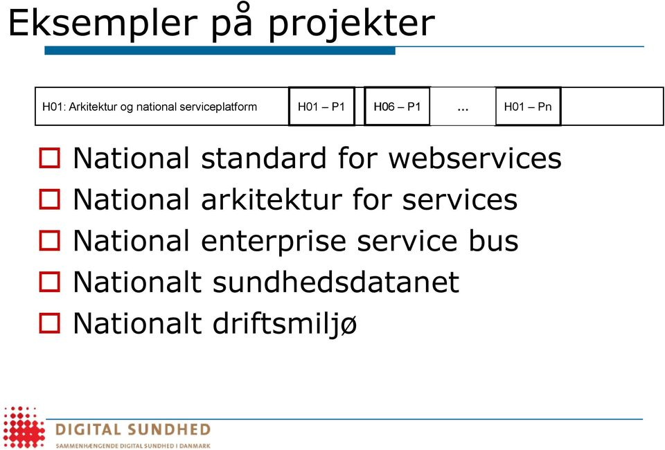 webservices National arkitektur for services National