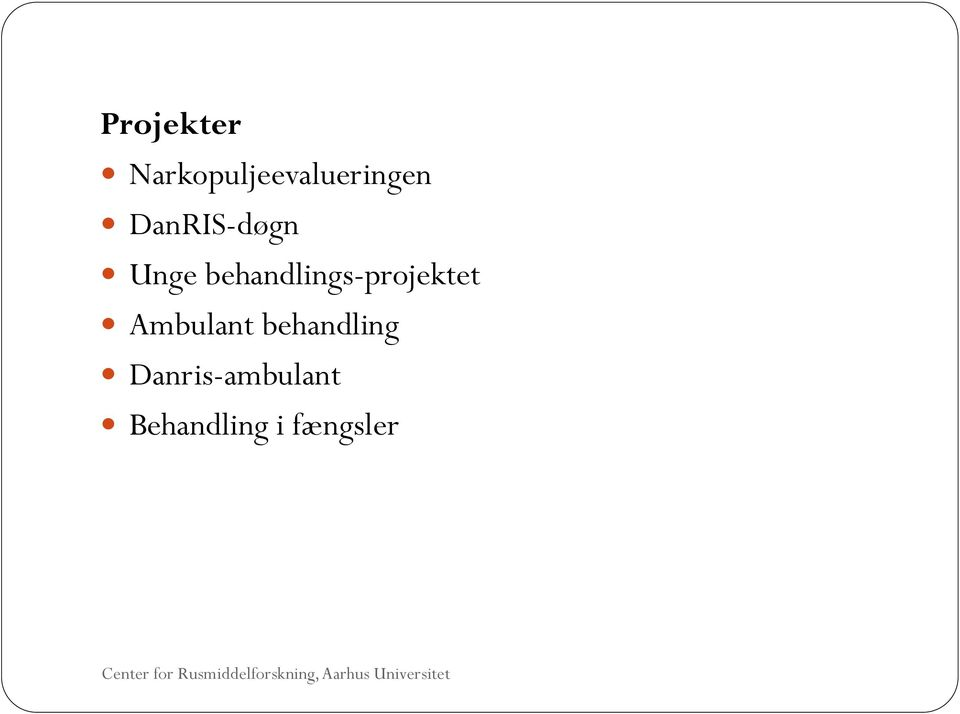 behandlings-projektet Ambulant
