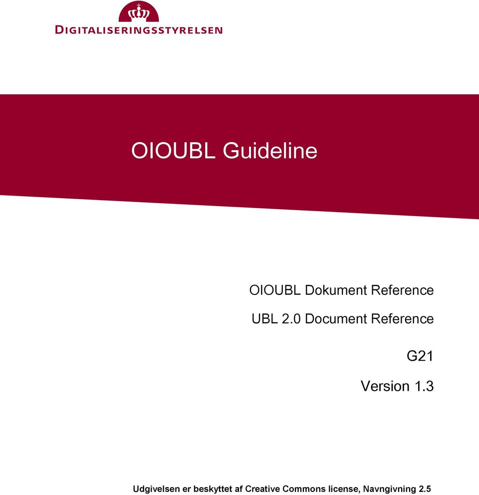 0 Document Reference G21 Version 1.