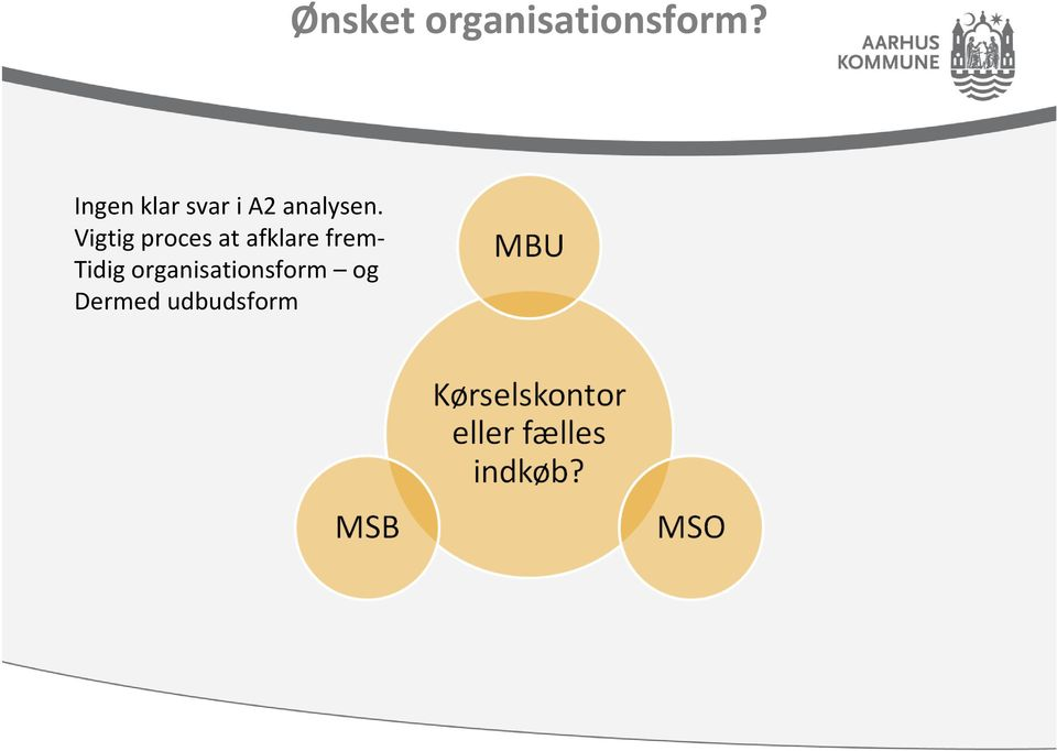Tidig organisationsform og