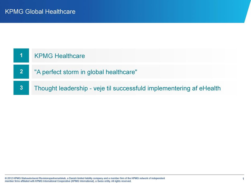 "healthcare"" 3 Thought leadership -"