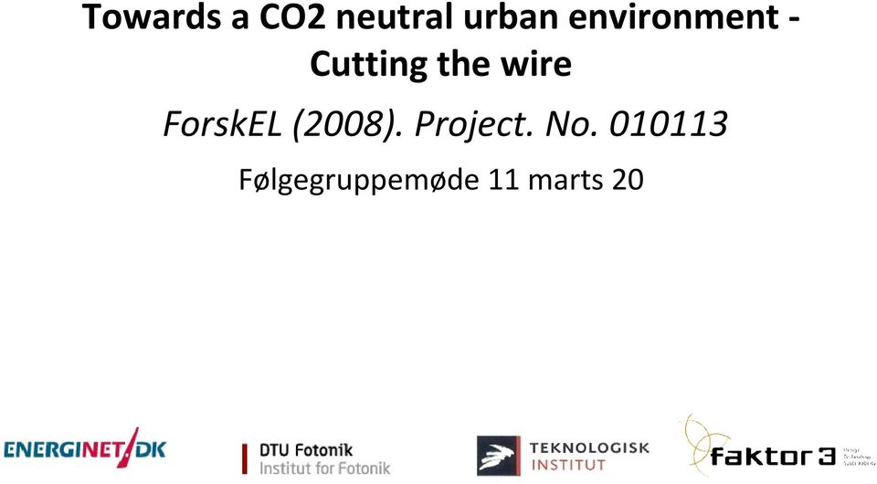 ForskEL (2008). Project. No.