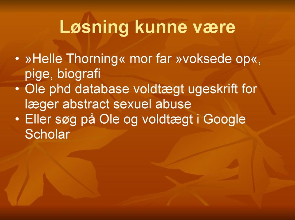 database voldtægt ugeskrift for læger