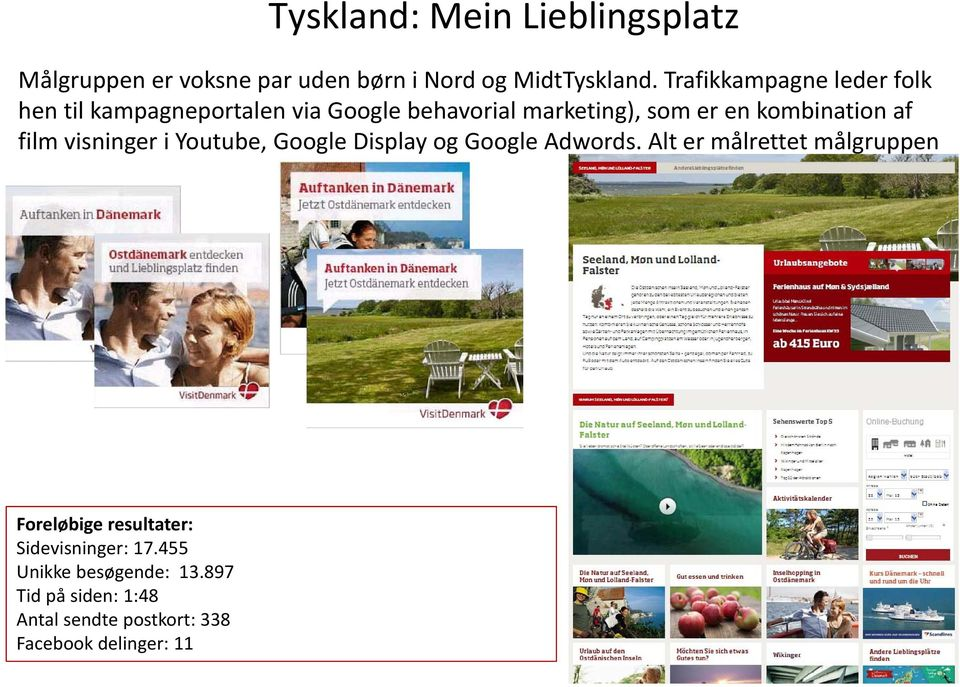 af film visninger i Youtube, Google Display og Google Adwords.