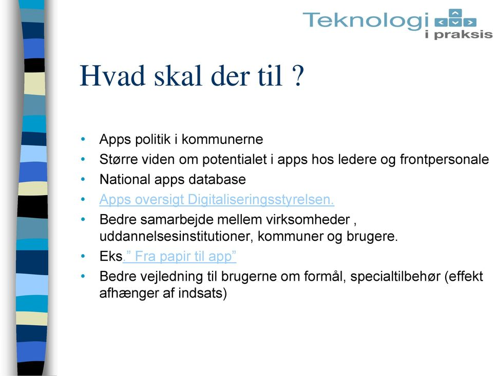 National apps database Apps oversigt Digitaliseringsstyrelsen.